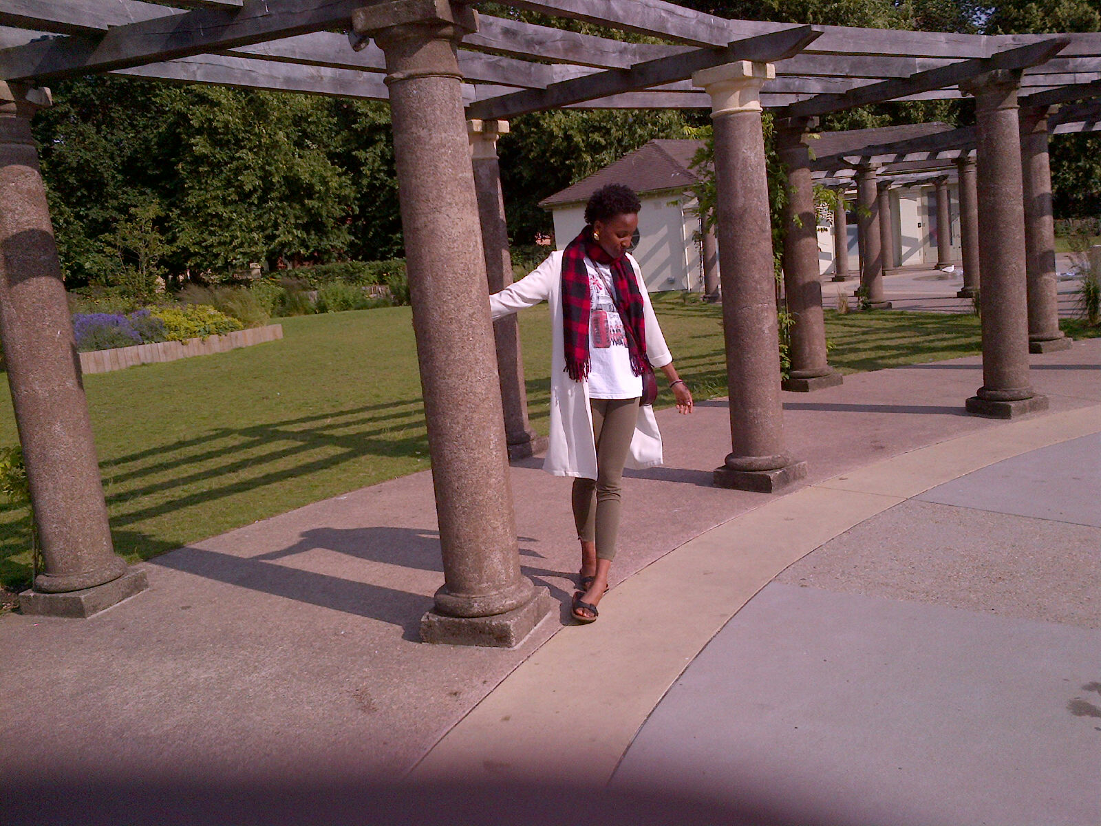 model Vanessa in the building!!! pavilion gardens